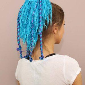 kolor: niebieski z bordowym