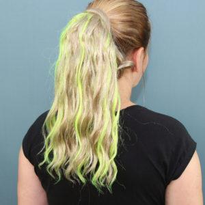 Kolor: Light Blonde+Fluorescent Green