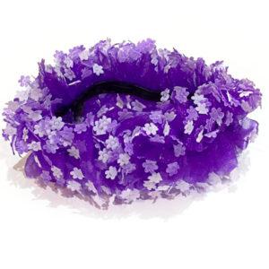 Kolor fioletowy z kwiatkami